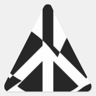 La paix a plongé dans le signe de paix sticker triangulaire