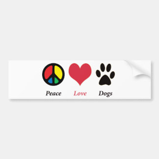 La paix, amour, poursuit l'adhésif pour pare-chocs autocollant de voiture