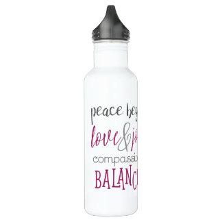 La paix commence par moi la bouteille d'eau