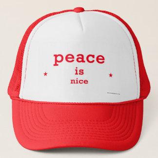 la paix est casquette intéressant de camionneur
