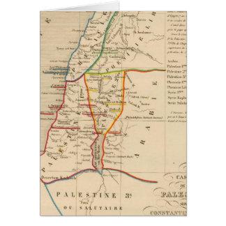 La Palestine Constantin sous le Grand, 330 apres Carte De Vœux