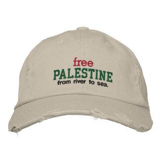La Palestine libre - de la rivière vers la mer Casquette Brodée