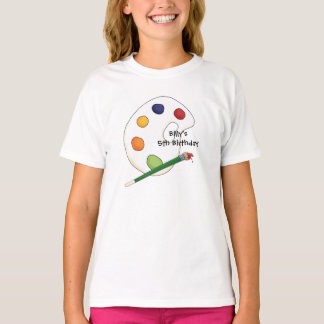 La palette de l'artiste badine le T-shirt