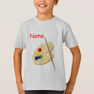 La palette de l'artiste des enfants badine le t-shirt