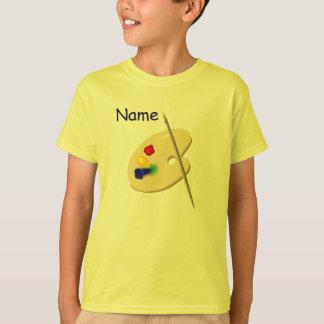 La palette de l'artiste des enfants badine le t-shirts