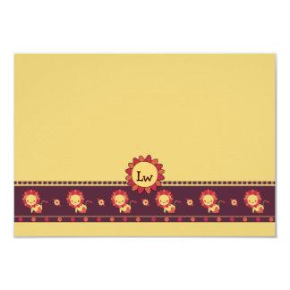 La papeterie personnalisée des enfants de pays de carton d'invitation 8,89 cm x 12,70 cm