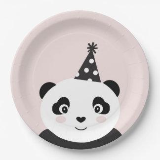 La partie aiment des plats d'un panda assiettes en papier