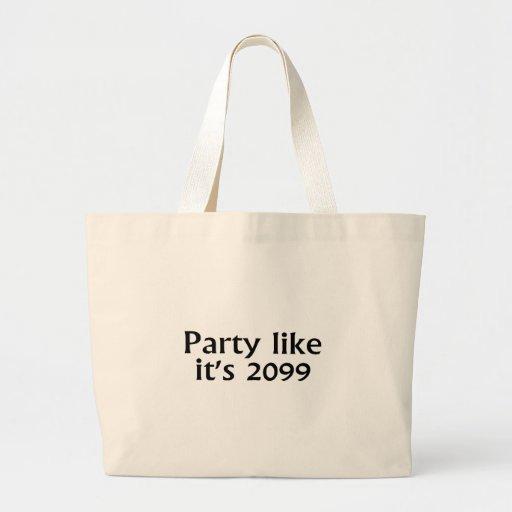 La partie aiment son 2099 sac en toile jumbo