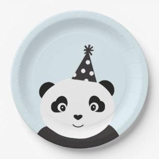 La partie aiment un panda assiettes en papier