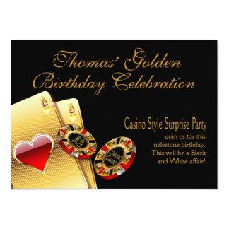 La partie de style de casino ME DEMANDENT DE Invitations Personnalisées