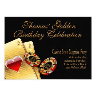 La partie de style de casino ME DEMANDENT DE METTR Invitations Personnalisées