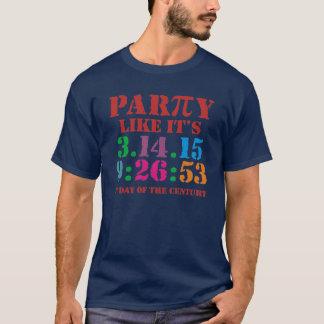 La partie de T-shirt de jour de pi comme elle est