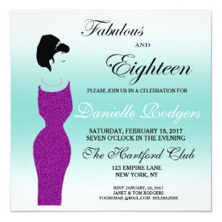 La partie de Tiffany fabuleuse à l'invitation de Carton D'invitation 13,33 Cm