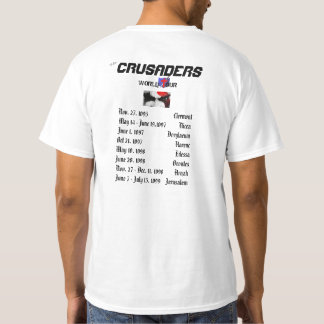 La partie de tour du monde de croisés comme elle t-shirt