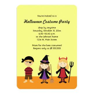 La partie Halloween badine des invitations de