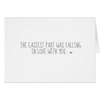 La partie la plus facile carte de vœux