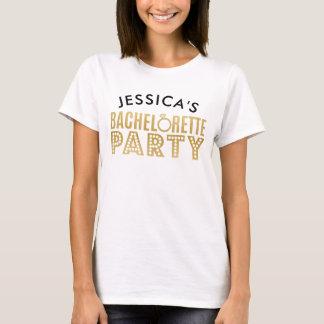 La partie nuptiale de Bachelorette d'or de partie T-shirt