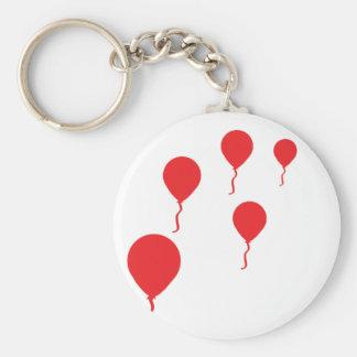la partie rouge monte en ballon l'icône porte-clé rond