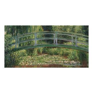 La passerelle japonaise par Claude Monet Cartes De Vœux Avec Photo