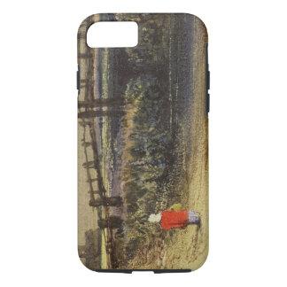 La passerelle (paysage avec le manteau rouge) (la coque iPhone 7