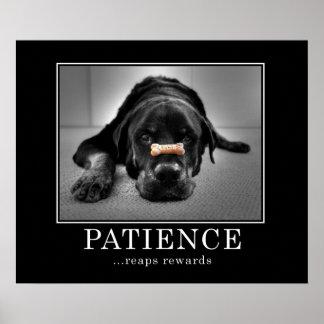 """La """"patience récolte des récompenses """" posters"""