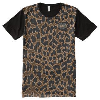 La patrie modelée par léopard Attires le T-shirt