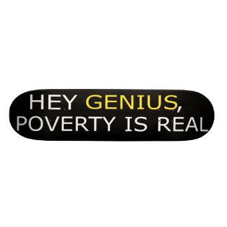 La pauvreté est vraie planche à roulettes plateaux de planche à roulettes