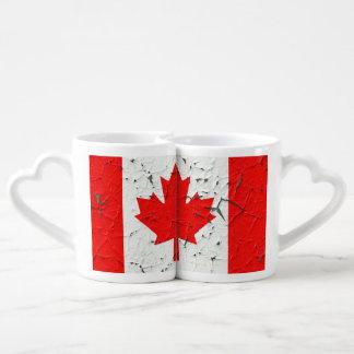 La peinture canadienne d'épluchage du CANADA de Tasse Duo