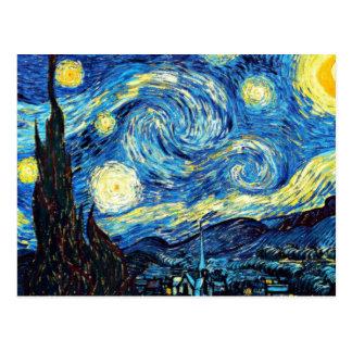 La peinture célèbre de Van Gogh, nuit étoilée Carte Postale
