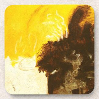 La peinture d'art abstrait s'égoutte des dessous-de-verre