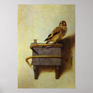 La peinture de chardonneret poster