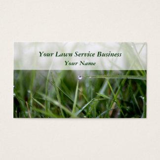 La pelouse entretient des cartes de visite
