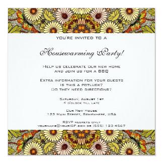 La pendaison de crémaillère vintage, jardin carton d'invitation  13,33 cm