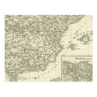 La péninsule ibérienne depuis le début carte postale