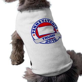 la Pennsylvanie Donald Trump 2016.png T-shirt Pour Chien
