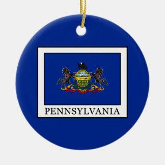 La Pennsylvanie Ornement Rond En Céramique