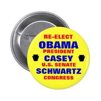 La Pennsylvanie pour Obama Casey Schwartz Pin's