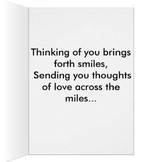La pensée à vous cardent carte de vœux
