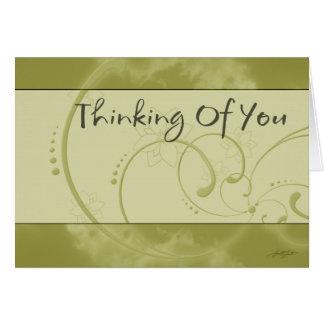La pensée à vous (jaune) cardent cartes