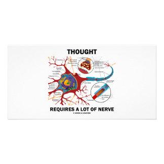 La pensée exige beaucoup de nerf (la synapse) photocarte personnalisée