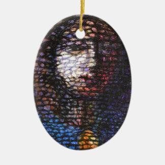 La perle ornement ovale en céramique