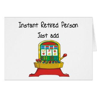 La personne retraitée instantanée, ajoutent juste carte de vœux