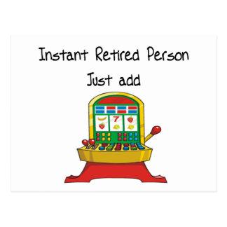 La personne retraitée instantanée, ajoutent juste cartes postales