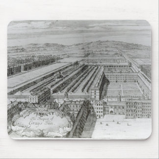 La perspective de l'auberge de gris, 1720 tapis de souris