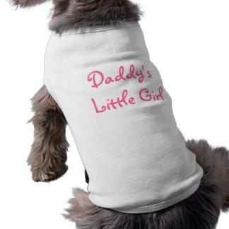 La petite fille du papa t-shirt pour chien