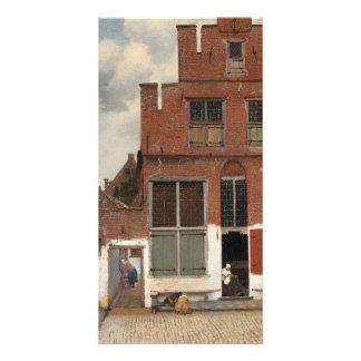La petite rue par Johannes Vermeer Modèle Pour Photocarte