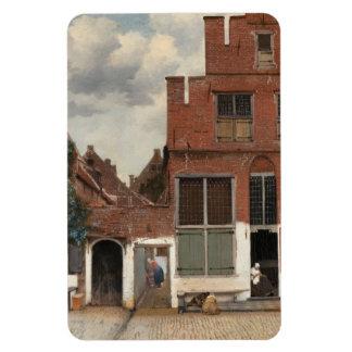 La petite rue par Johannes Vermeer Magnets Rectangulaire