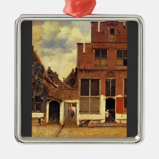 La petite rue par Johannes Vermeer Ornements De Noël