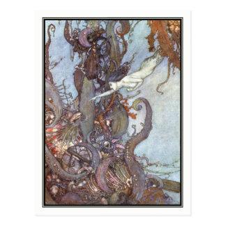 La petite sirène par Edmund Dulac Cartes Postales