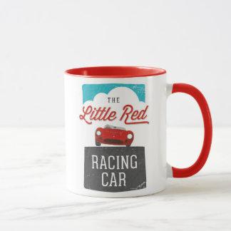 La petite tasse rouge de logo de double de voiture